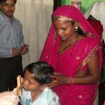Крај Литургије, православна заједница у Чандрапуру, држава Махараштра, Индија